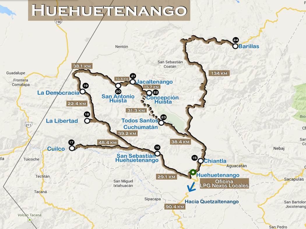 Mapa Huehuetenango