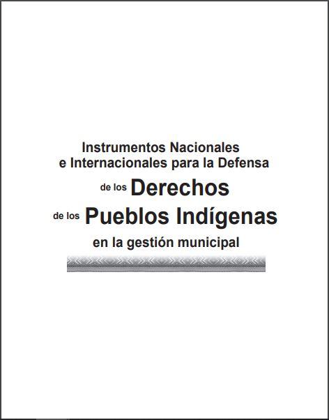 PORTADA INSTRUMENTOS DE LOS DERECHOS DE PUEBLOS INDIGENAS