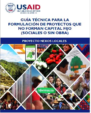 GUIA PARA LA FORMULACIÓN DE PROYECTOS QUE NO FORMA CAPITAL FIJO, SOCIALES O SIN OBRA