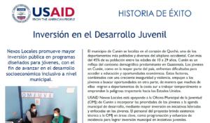 INVERSIÓN EN DESARROLLO JUVENIL
